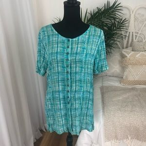 Metro Collection NY Button Up Blouse